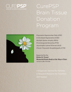 CurePSP Brain Donation Program Home-Printer-Friendly