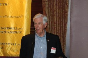Jon Burhoe Sr., at the Addison Rotary Club, Dallas