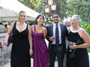 From left: Becky, daughter, Ayse, daughter, Zain, son-in-law, and Mary Lou at her nephew's wedding in Istanbul, Turkey, Summer 2010