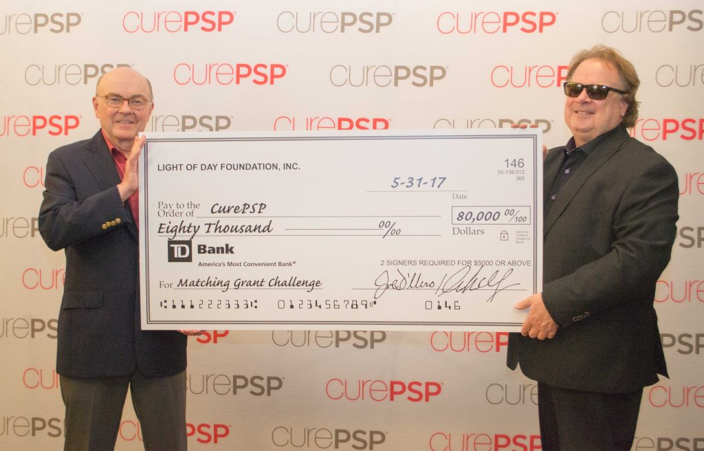 CurePSP President, David Kemp, with Tony Pallagrosi, Executive Director of Light of Day