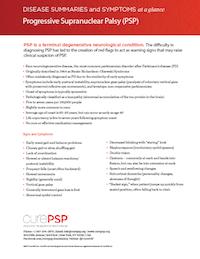 PSP Disease Summary Sheet